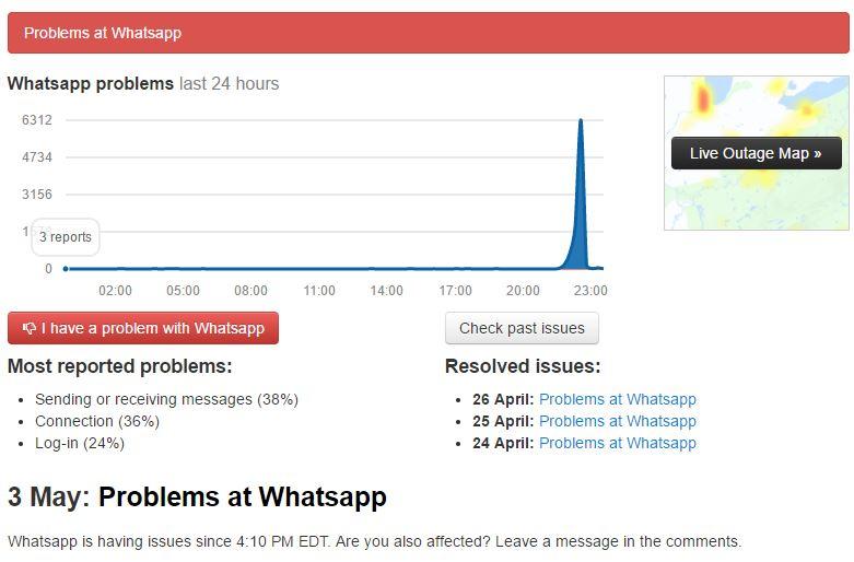 como saber si whatsapp esta caido